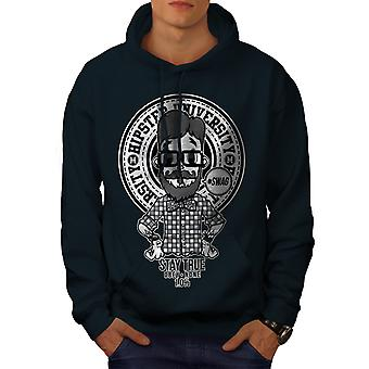 Hippie Swag Cool Men NavyHoodie | Wellcoda