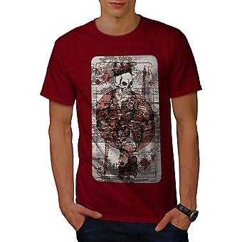 Skull King Poker Casino Men RedT-shirt | Wellcoda
