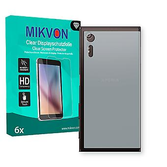 Sony Xperia XZ reverse Screen Protector - Mikvon Clear (Retail Package with accessories) (intentionally smaller than the display due to its curved surface)