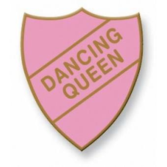 Dancing Queen Enamel Shield Badge, Old School Vintage Style