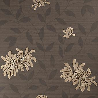 Harlequin Black & Gold Wallpaper Roll - Floral Decadence Adore Design - 30726