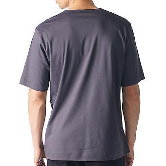 メイ 20710 697 メンズ ラウンジ灰色の固体色のパジャマ パジャマ トップ