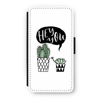 iPhone X Flip Case - Hei du kaktus