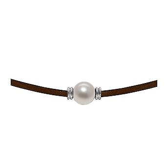 Leather and Culture White Pearl Necklace and Silver 925/1000