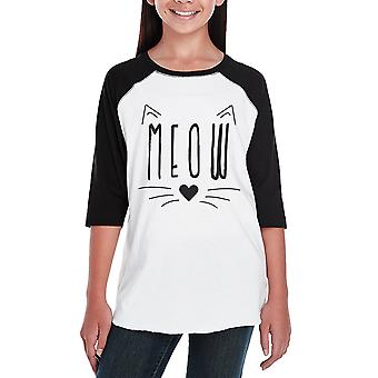 Miauw Kids Baseball Raglan Shirt