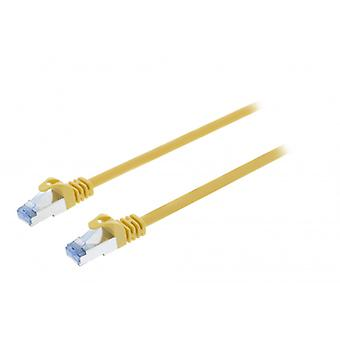 ValueLine CAT6a S/FTP network cable RJ45 (8P8C) male to RJ45 (8P8C) Male 1.00 m Yellow