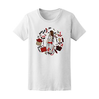 Beautiful Girl With Doodles Women's Tee - Image by Shutterstock