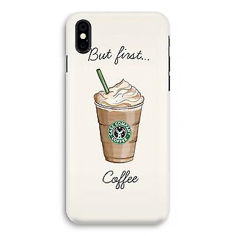 iPhone X Full Print mål - men första kaffe