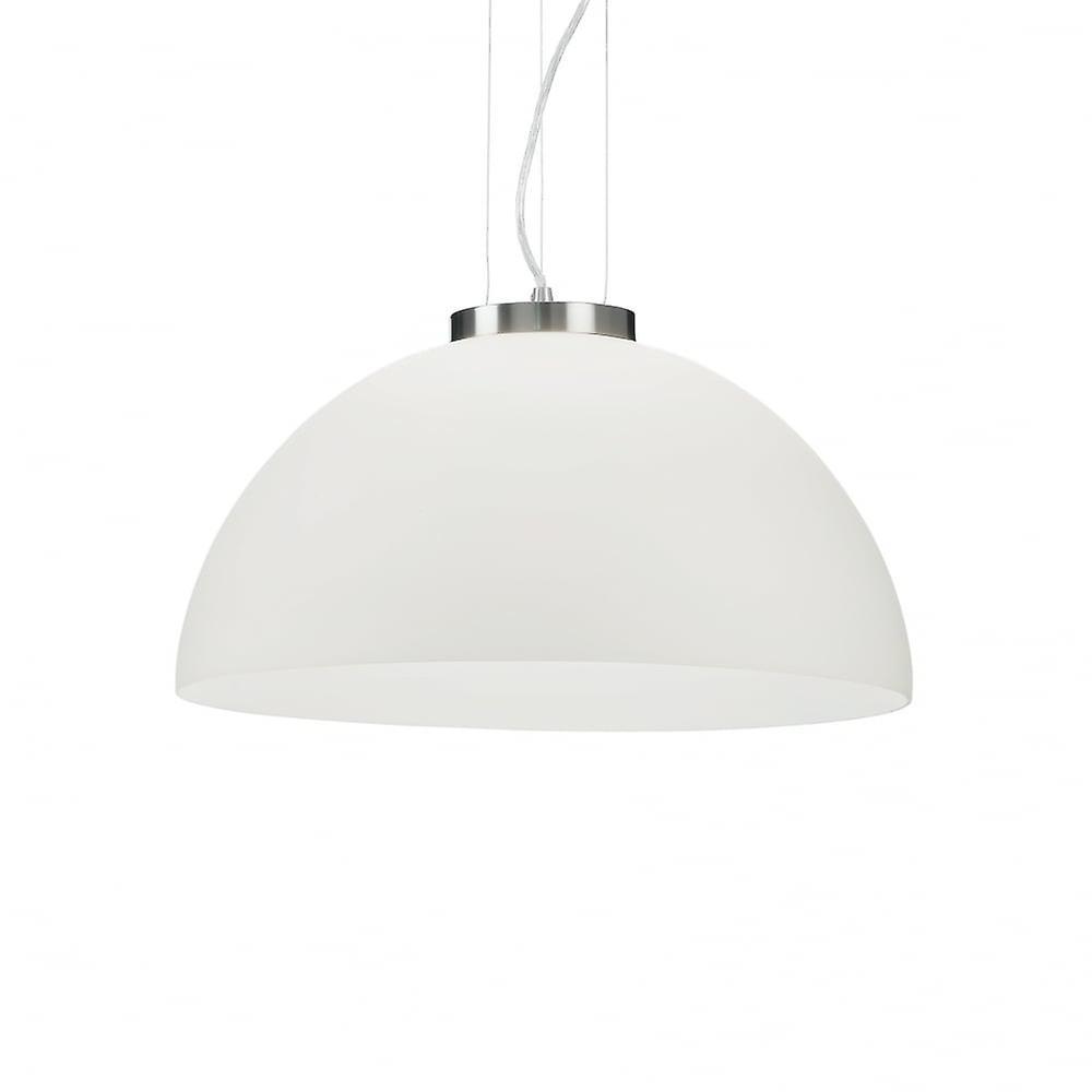 Ideal Lux Etna Modern blanc Glass Bowl Ceiling pendentif lumière