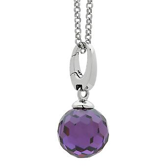 Burgmeister charm disco ball  purple zirconia, JHE1074-621,  925 sterling silver rhodanized