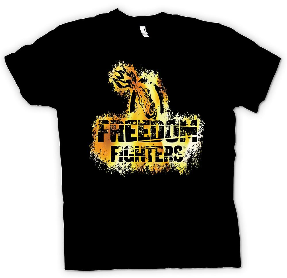 Mens T-shirt - Freedom Fighters Molotov Cocktail