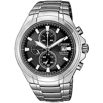 Citizen Herrenuhr Eco-Drive Titanium Chronograph CA0700-86E
