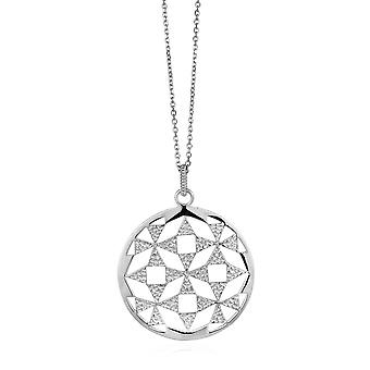 Orphelia Silver 925 Chain With Pendant Big Circle   ZH-6037