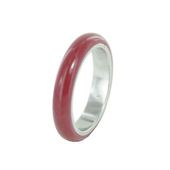 ESPRIT women's ring stainless steel Marin 68 bordeaux / silver ESRG11562J