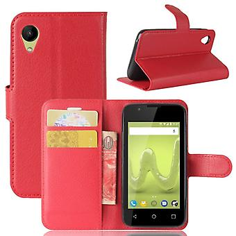 Pocket wallet premium red-to WIKO sunny 2 protection sleeve case cover pouch new