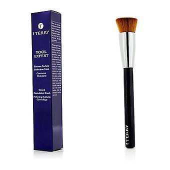 By Terry Too Expert Stencil Foundation Brush - -