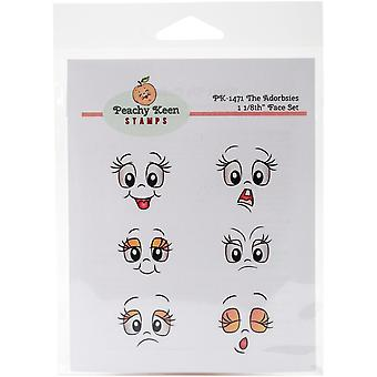 Peachy Keen Stamps Clear Face Assortment 6/Pkg-The Adorbsies