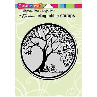 Stampendous Cling Stamp-Tree Circle