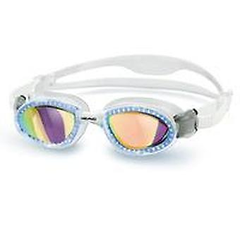 HEAD Superflex Swimming Goggles - Smoke Mirrored Lenses - Clear Frame