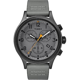 Timex mens watch Allied chronograph 42 mm leather TW2R47400
