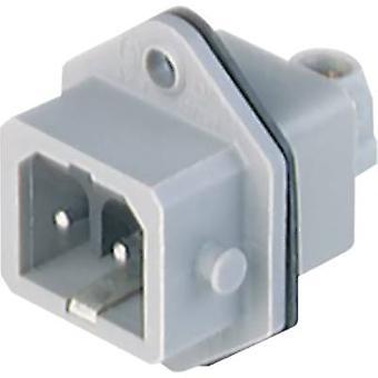 Mains connector STASEI Series (mains connectors) STASEI Plug, vertical mount Total number of pins: 2 + PE 16 A Grey Hirschmann STASEI 200 1 pc(s)