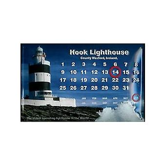Hook Lighthouse Co. Wexford Embossed Metal Sign / Calendar