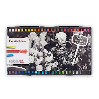 Conte a Paris Artists Colour Crayons 48 Assorted Colours