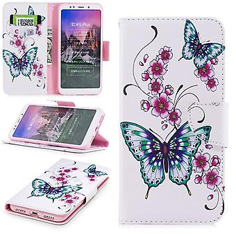 For Huawei P smart plus / Nova 3i leatherette bag book motif 31 protection sleeve case cover pouch new
