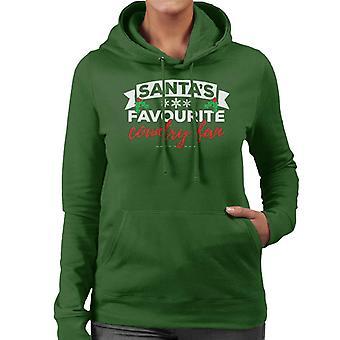 Santas favoriet land Fan Christmas vrouwen Hooded Sweatshirt