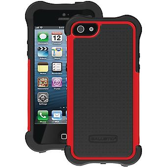 Ballistic SX0945-M355 Shell Gel MAXX Case for Apple iPhone 5 (Black/Red)