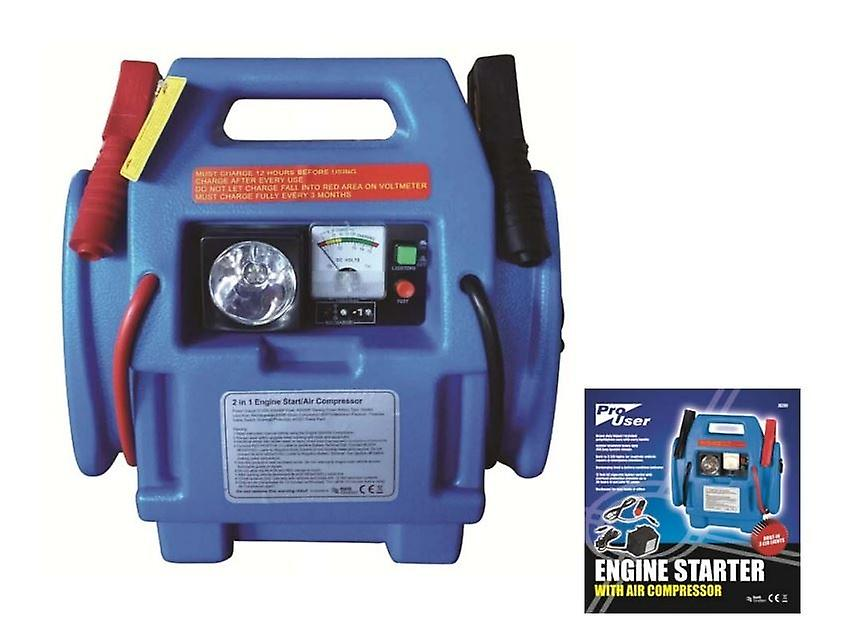 2 IN 1 COMPACT HEAVY DUTY ENGINE JUMP STARTER WITH AIR COMPRESSOR