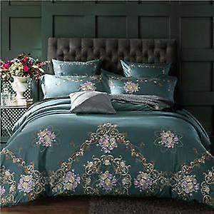 embroidered 1000 Sheet Duvet Egyptian Cotton Pillowcases Set Tc Bed Cover POTwXZkiu