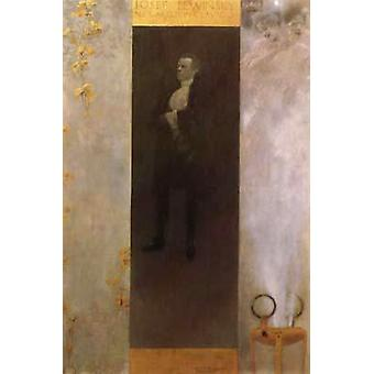 Hofburg acteur Josef Lewinsky als Carlos, Gustav Klimt, 64x44cm