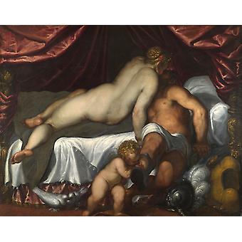 Marte e Venere, PALMA il GIOVANE, 50x40cm
