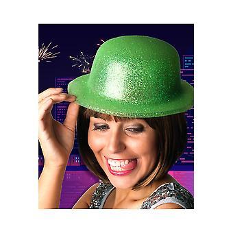 Brokat kapelusz kapelusze zielony melonik