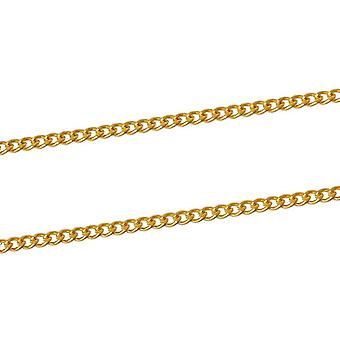 10m x Golden Plated Iron Alloy 2 x 3mm Closed Curb Chain CH1455