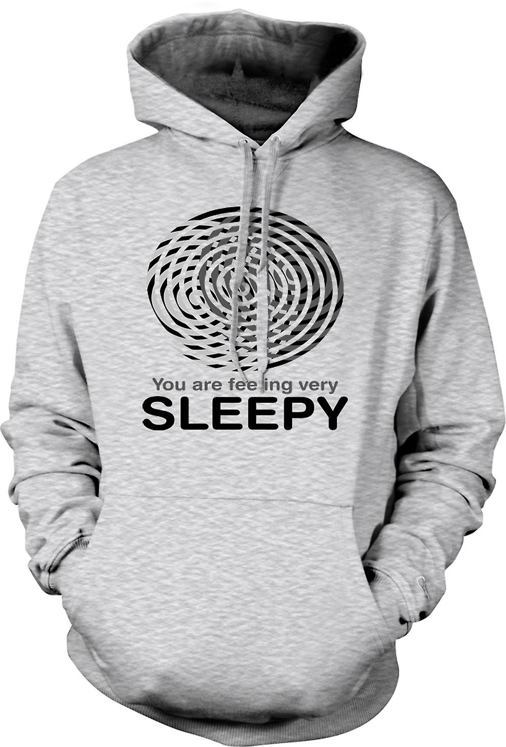 Mens Hoodie - You Are Feeling Very Sleepy - Funny