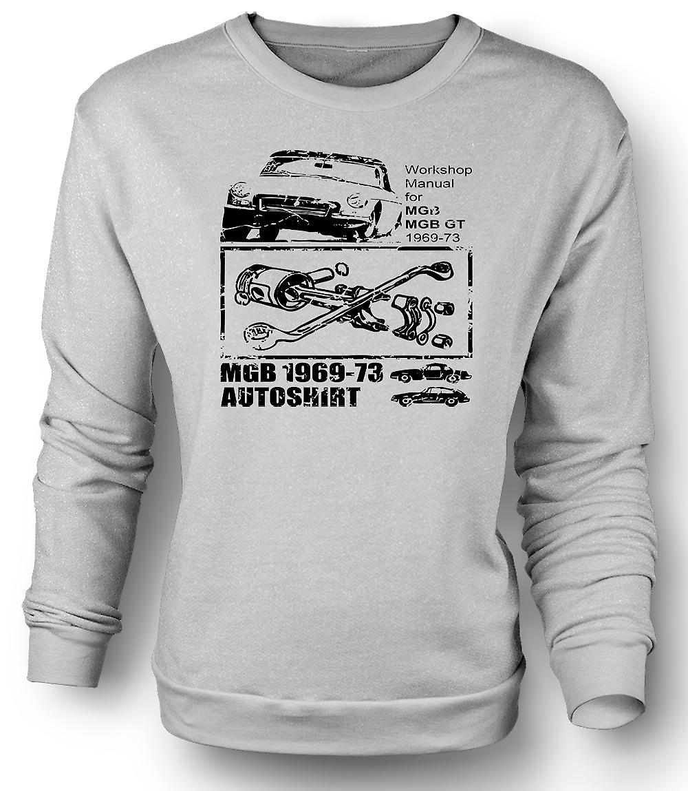 Mens Sweatshirt MGB GT 69 - 73 - Classic Car