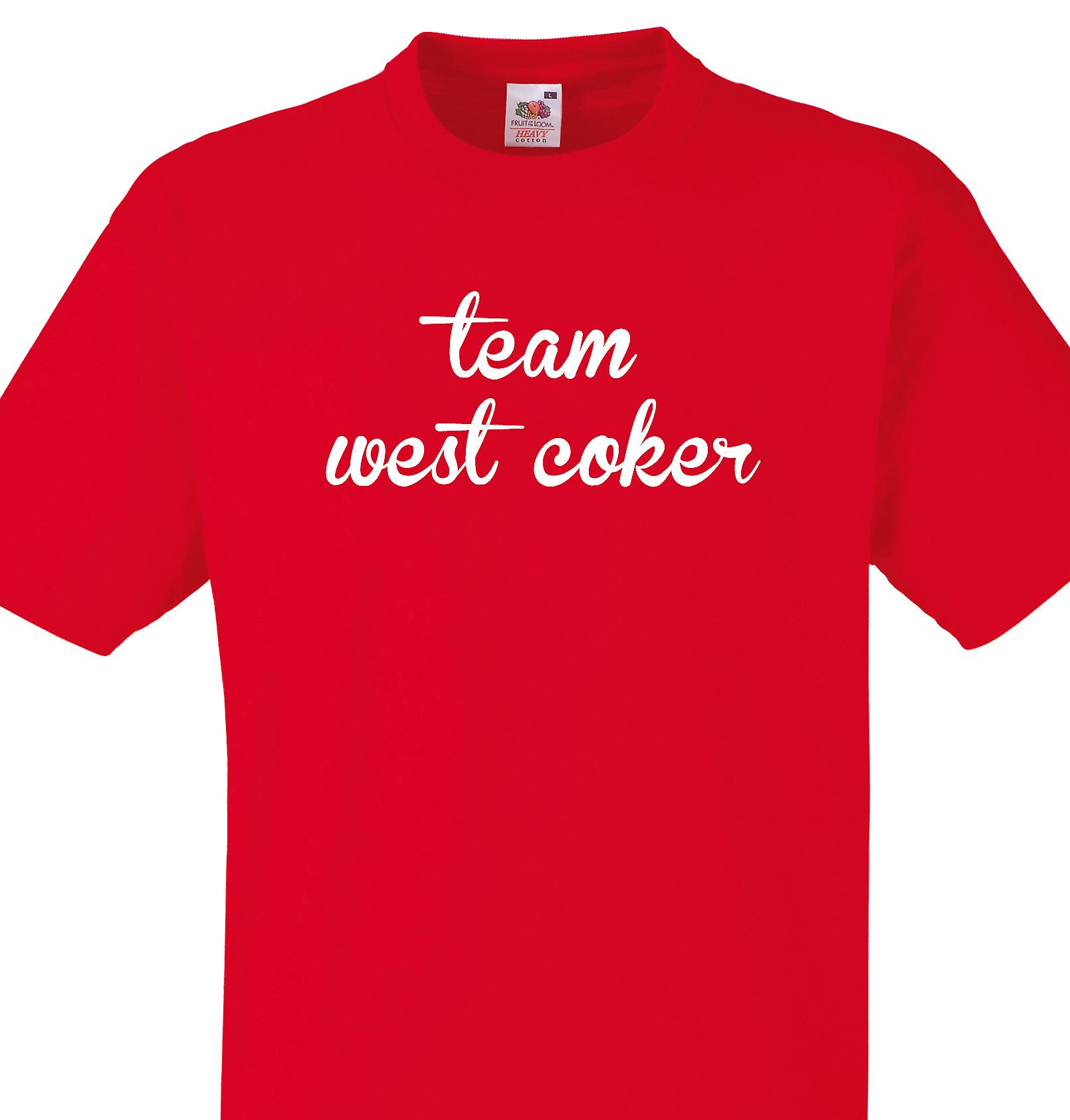 Team West coker Red T shirt