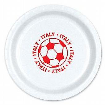 "Italy Football 9"" Plate ( 8 plates per pack)"