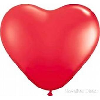 "Balloons Standard 12"" Red Heart Shaped"