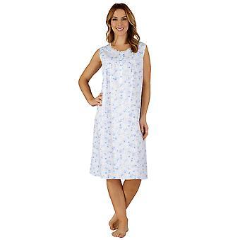 Slenderella ND3205 Women's Cotton Woven Night Gown Loungewear Nightdress