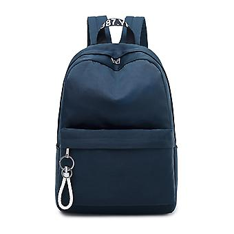 Simple Backpack with a laptop compartment-dark blue