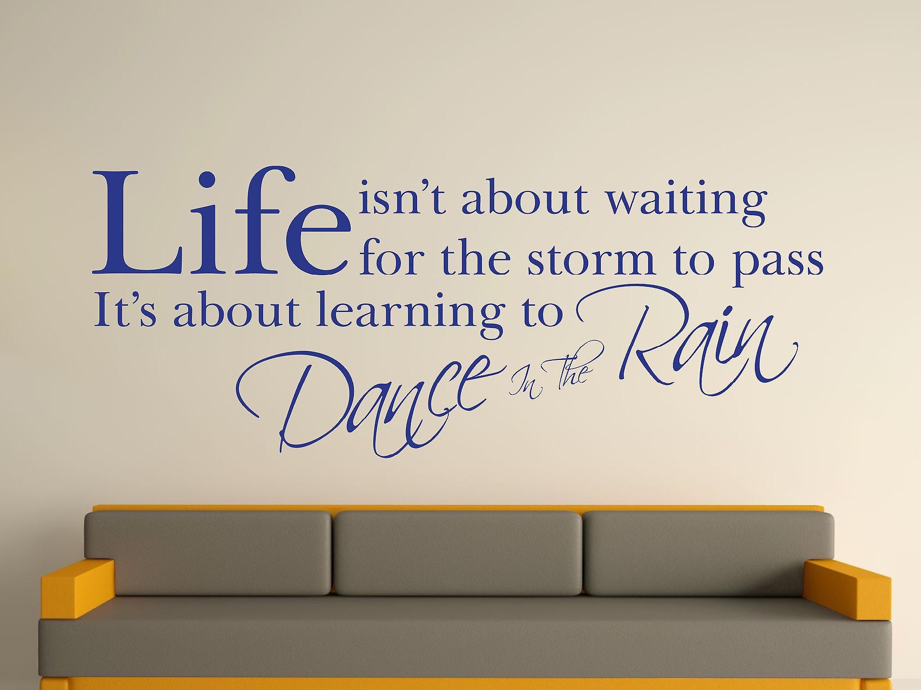 Dance In The Rain Wall Art Sticker - Dark Blue