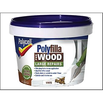 Polycell Polyfilla 2 Part Wood Filler White 500g
