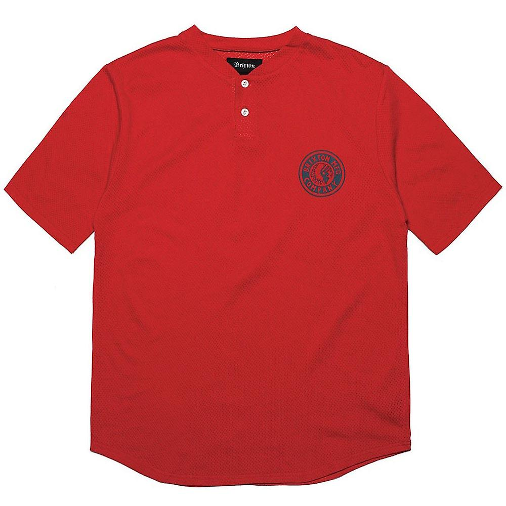 Brixton Rival Henley T-Shirt Red