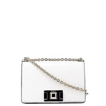 Furla Mimi White Leather Shoulder Bag