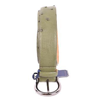 Jacob Cohen Green Leather Belt