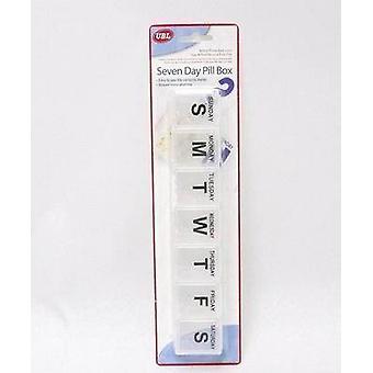 Stor 7-dagers plast pille boksen