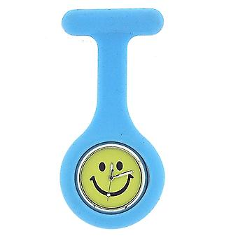 Boxx Light Blue Smiley Face Infection Control Gel Professional Fob Watch Boxx104